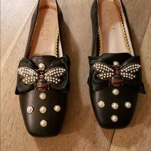 Gucci loafers with pearls size 37 women's